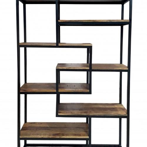 Heavy Duty Wood and Steel Bookshelf
