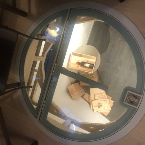 Circular Wine Cellar Glass Hatch