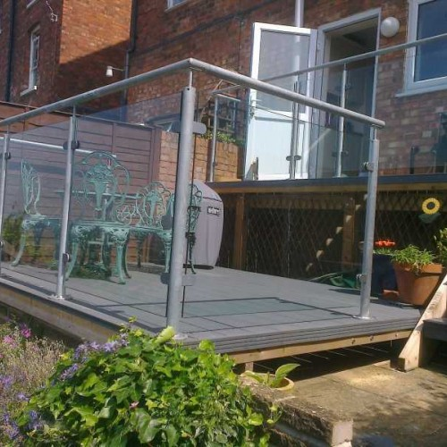 Galvanized Steel Glass Balustrade System 9