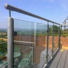 Galvanized Steel Glass Balustrade System 9
