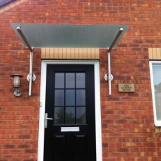 Stainless Steel and Glass Door Canopy T4