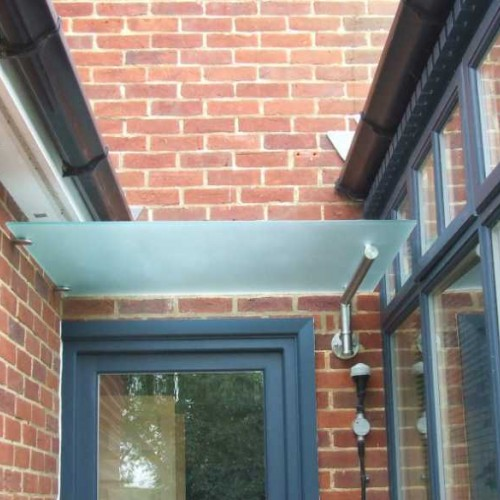 Modern Glass Door Corner Canopy T5