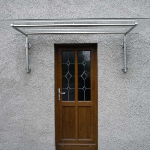 Modern Contemporary Wide Span Glass Door Canopy T6
