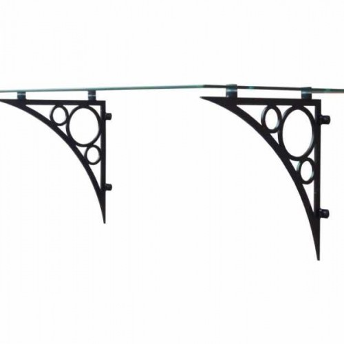 Glass Porch Canopy - Ornate Style