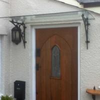 Glass Porch Canopy - Ornate Style