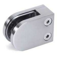 12mm Stainless Steel Brushed Glass Clamps