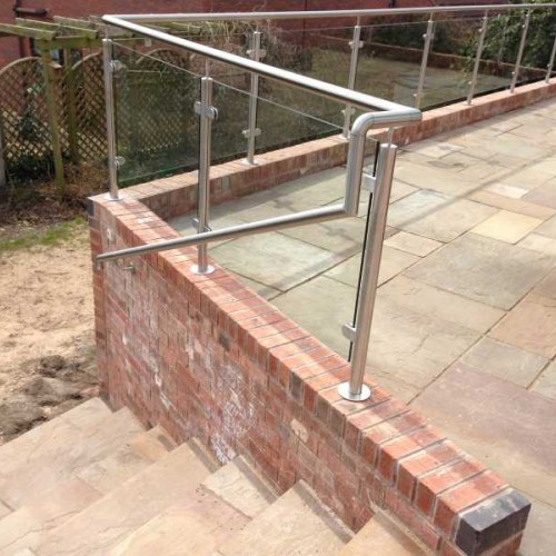 Mm stainless steel handrail tube brushed