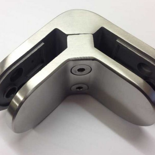Stainless Steel 90 Degree Corner Glass Clamp