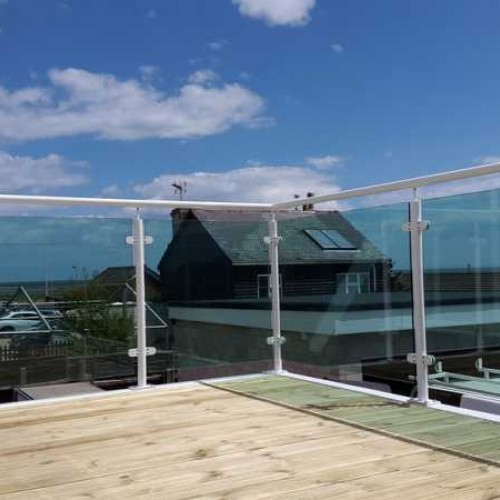 Green Tinted Toughened Glass Panels