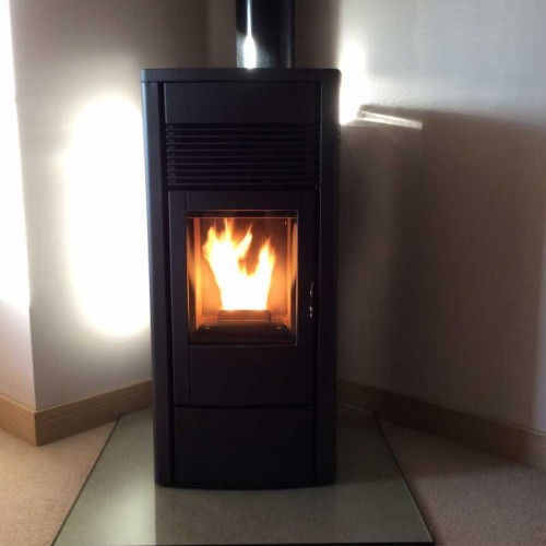 Fireplace Stove Glass Hearth