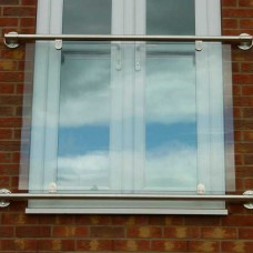 Stainless Steel Glass Juliet Balcony - Modern Style