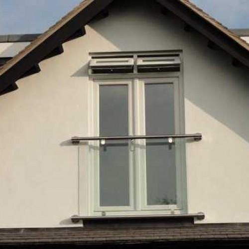 Stainless Steel Glass Juliet Balcony Modern Style