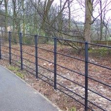 Estate Rail Steel Fencing