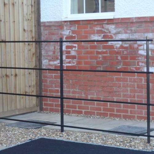 Estate Rail Steel Fencing