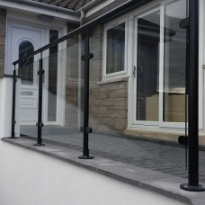 Powdercoated Glass Balustrade System 10