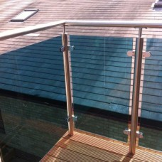 Blue Tinted Toughened Glass Panels