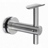Offset glass handrail bracket